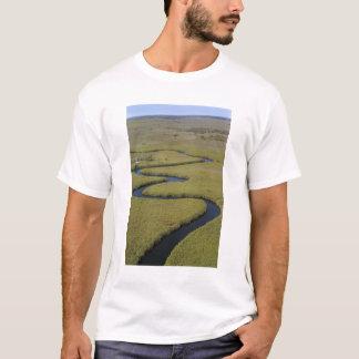 Botswana, Africa. Arial view Okavango river. T-Shirt