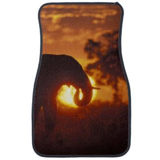 Botswana, Chobe National Park, Bull Elephant Car Mat