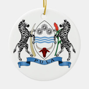 Botswana Coat Of Arms Christmas Tree Decorations Ornaments