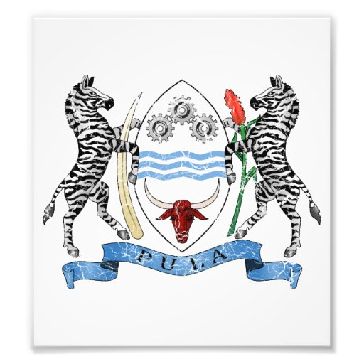 Botswana Coat Of Arms Photo Art