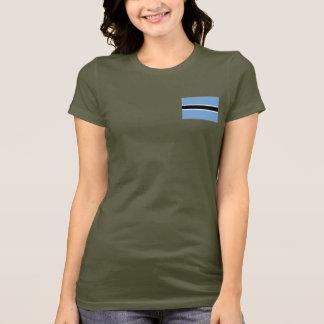 Botswana Flag and Map dk T-Shirt
