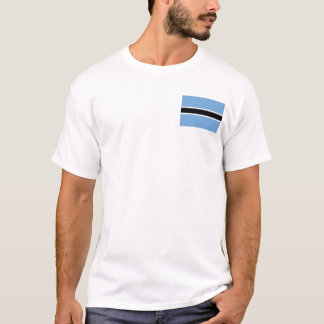 Botswana Flag and Map T-Shirt