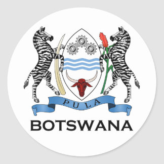 BOTSWANA - flag/emblem/coat of arms/symbol Classic Round Sticker