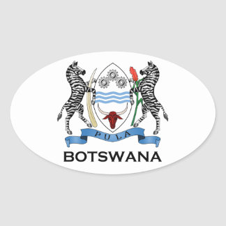 BOTSWANA - flag/emblem/coat of arms/symbol Oval Sticker