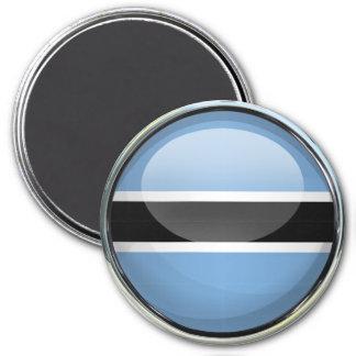 Botswana Flag Glass Ball Magnet