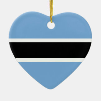 Botswana Flag Heart Christmas Ornament