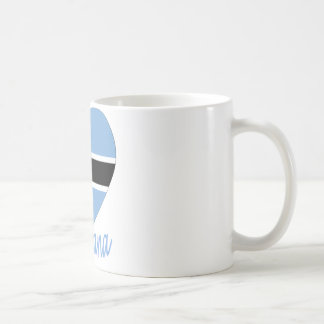 Botswana Flag Heart Coffee Mug