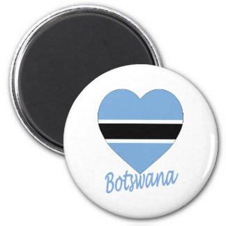 Botswana Flag Heart Magnet