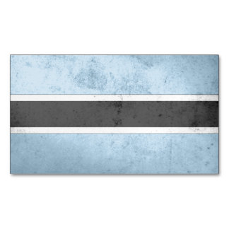 Botswana Flag Magnetic Business Cards