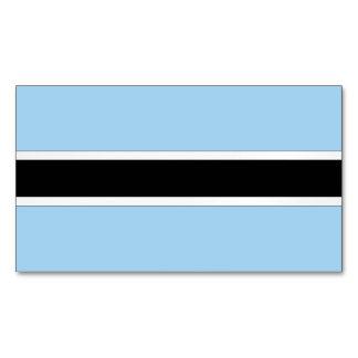 Botswana Flag Magnetic Business Cards