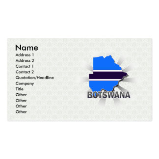 Botswana Flag Map 2.0 Pack Of Standard Business Cards