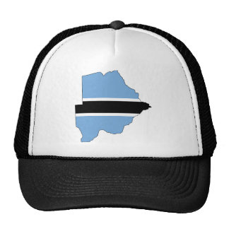 Botswana Flag map BW Cap