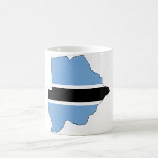 Botswana Flag map BW Coffee Mug