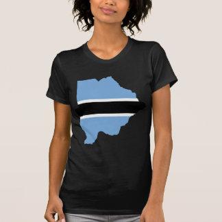 Botswana Flag map BW T-Shirt