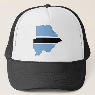 Botswana Flag map BW Trucker Hat