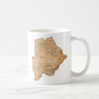 Botswana Flag ~ Map Mug