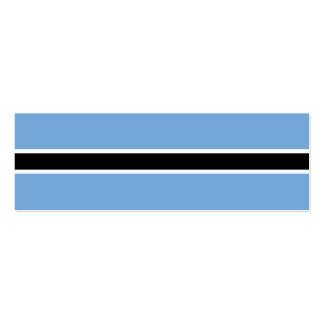 Botswana Flag Pack Of Skinny Business Cards