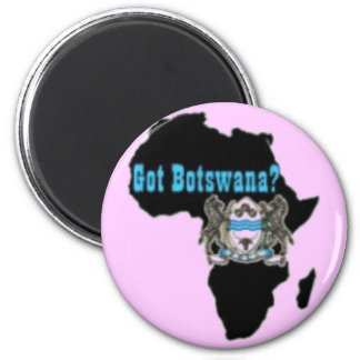 Botswana Flag T-Shirt & Etc 6 Cm Round Magnet