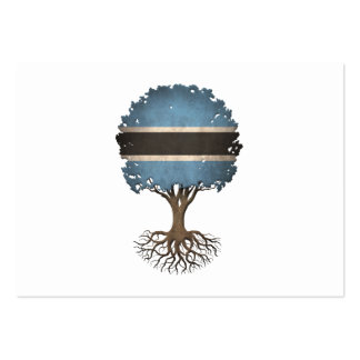 Botswana Flag Tree of Life Customizable Pack Of Chubby Business Cards