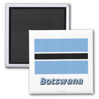 Botswana Flag with Name Magnet