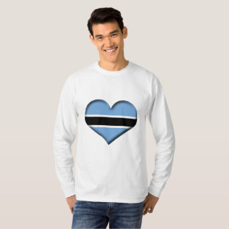 Botswana Heart Flag T-Shirt