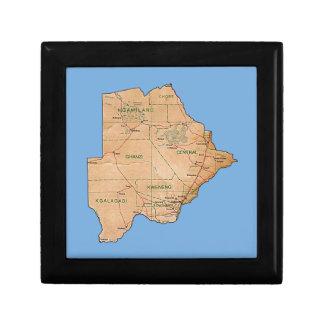 Botswana Map Gift Box