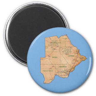 Botswana Map Magnet