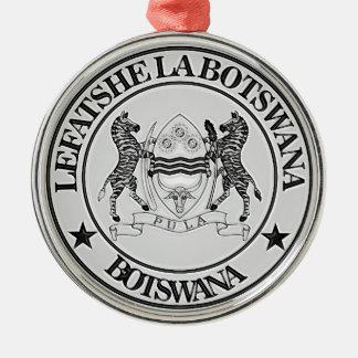 Botswana Round Emblem Christmas Ornament
