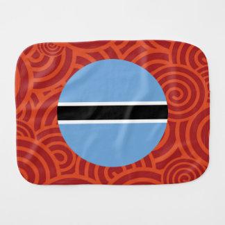 Botswana round flag baby burp cloth