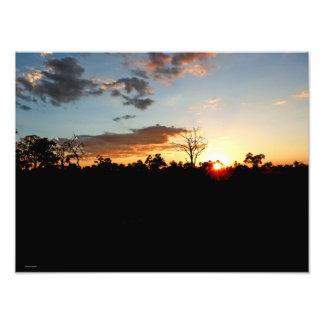 BOTSWANA SUNSET 2 PHOTO PRINT