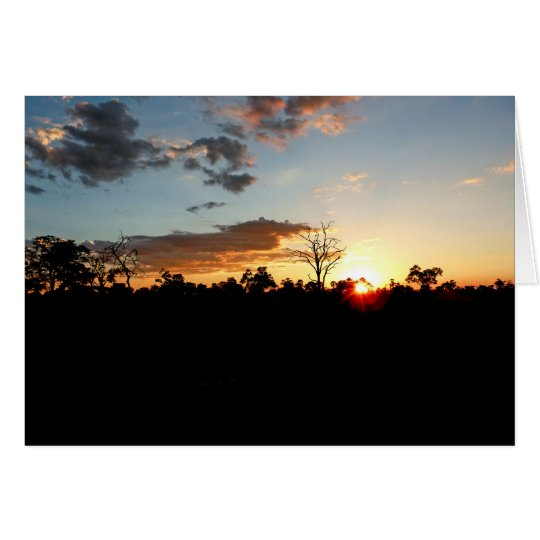 BOTSWANA SUNSET Blank greeting card