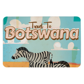 Botswana Vintage Travel Poster Magnet