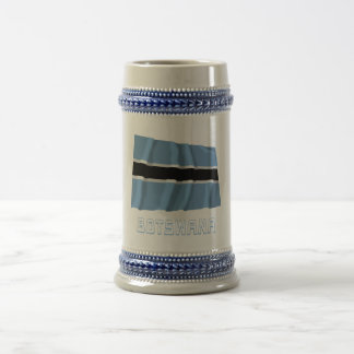 Botswana Waving Flag with Name Beer Stein