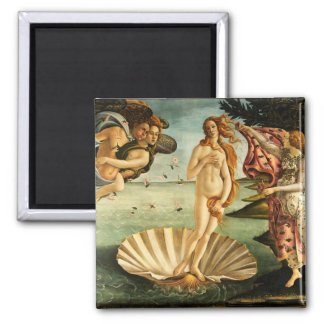 Botticelli Birth Of Venus Renaissance Art Painting Square Magnet