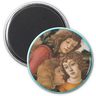 Botticelli detail 6 cm round magnet
