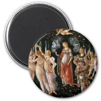 Botticelli-primavera 6 Cm Round Magnet