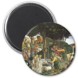 Botticelli Renaissance Painting 6 Cm Round Magnet