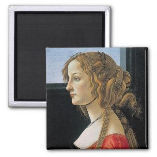 Botticelli Renaissance Painting Square Magnet
