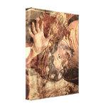 Botticelli - Sistine Chapel - punishing the Levite Canvas Print