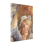 Botticelli - Sistine Chapel -The youth of Moses 3 Canvas Prints