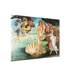 BOTTICELLI- The birth of Venus 1483 Canvas Print