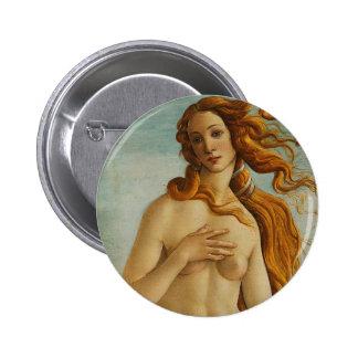 Botticelli The Birth of Venus Button