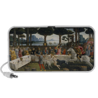 Botticelli - The Story of Nastagio Painting iPod Speakers
