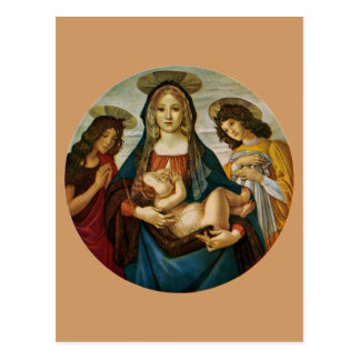 Botticelli's Madonna And Child Postcard
