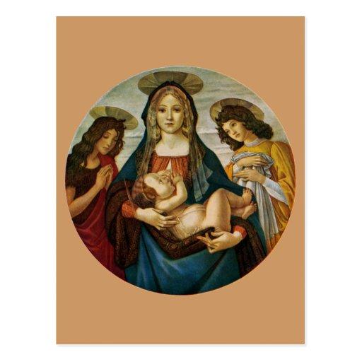 Botticelli's Madonna And Child Postcard