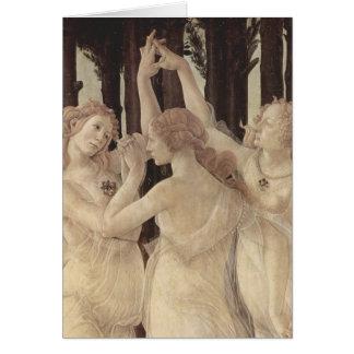 Botticelli's Three Graces Greeting Card