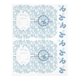 Bottle and Pacifier Baby Shower Box Template 21.5 Cm X 28 Cm Flyer