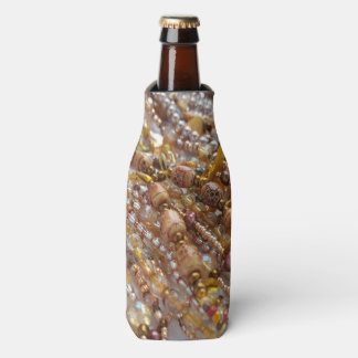 Bottle Cooler- Earth Tones Bronze Beads Print Bottle Cooler