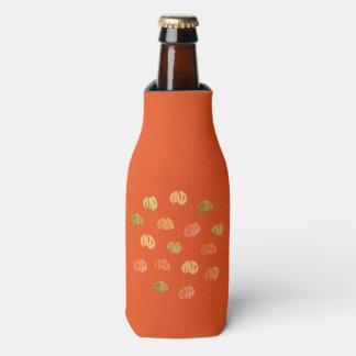 Bottle cooler with pumpkins