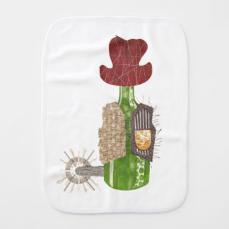 Bottle Cowboy Burp Cloth